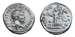 Ancient Coins - Septimius Severus AR Denarius - VICT PARTHICAE