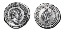 Ancient Coins - Caracalla AR Denarius, 216 AD - Jupiter