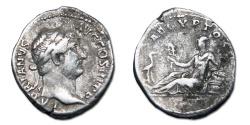 Ancient Coins - Hadrian AR Denarius - AEGYPTOS