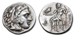 Ancient Coins - Alexander III 'the Great' AR Drachm, Sardes Mint