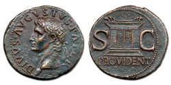 Ancient Coins - Divus Augustus AE As - Ara Providentiae Augusti