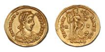 Ancient Coins - Theodosius II  AV Solidus.  Ravenna mint - rare Western issue.