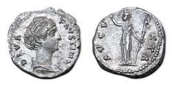 Ancient Coins - Diva Faustina I AR Denarius - RIC 361