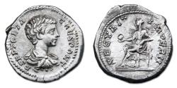 Ancient Coins - Geta AR Denarius - SECVRIT IMPERII