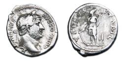 Ancient Coins - Hadrian AR Denarius - TELLVS STABIL