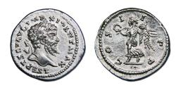 Ancient Coins - Septimius Severus AR Denarius - Victory Advancing