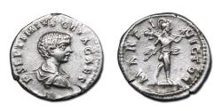 Ancient Coins - Geta AR Denarius - MARTI VICTORI