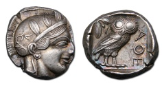 Ancient Coins - ATTICA, Athens AR Tetradrachm, iridescent cabinet toning