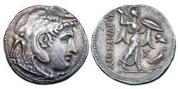 Ancient Coins - Ptolemy I Soter AR Tetradrachm - Alexander in Elephant Headdress