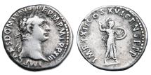 Ancient Coins - Domitian AR Denarius - Minerva Wielding Spear and Holding Shield