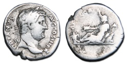 Ancient Coins - Hadrian AR Denarius - AFRICA, travel series edition