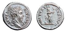 Septimius Severus AR Denarius - Neptune Holding a Trident