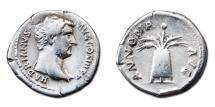 Ancient Coins - Hadrian AR Denarius - ANNONA AVG, Modius Containing Grain Ears and Poppy