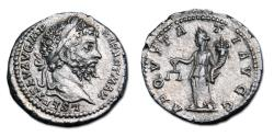 Ancient Coins - Septimius Severus AR Denarius - AEQUITAS