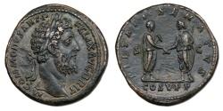 Ancient Coins - Commodus AE Sestertius - PIETATI SENATVS, Scarce and historical type