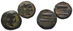 Ancient Coins - Kings of Macedon - Alexander III the Great (336-323 BC) Ae, 2x Pieces !