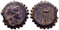 Ancient Coins - SELEUKID KINGDOM. Demetrios I Soter (162-150 BC). Serrate Ae. Antioch on the Orontes.
