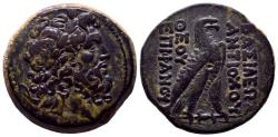 """Ancient Coins - SELEUKID KINGDOM. Antiochos IV Epiphanes (175-164 BC). Ae. Antioch on the Orontes. """"Egyptianizing"""" series.  Best of its type !"""