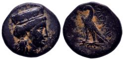 Ancient Coins - EGYPT, Ptolemaic Kings. Ptolemy I . 323-283 BC. Æ 8,76gr RARE , Glossy Dark Patina , Excellent Condition !