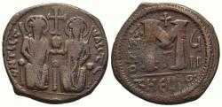 Ancient Coins - Justin II, with Sophia. 565-578. Æ Follis , 13.30gr , Excellent , Bold coin!