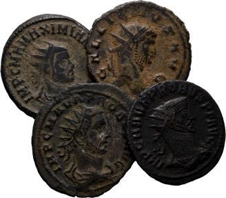 Ancient Coins - Lot of 4 Nice Roman Antoninianus.