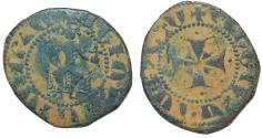 World Coins - Cilician Armenia: Levon IV (1320-134) Æ Pogh (Nercessian-460)