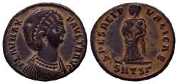 Ancient Coins - Fausta. Augusta, AD 324-326. Æ Follis (18mm, 3.21 g, 12h). Thessalonica mint, Beauty !