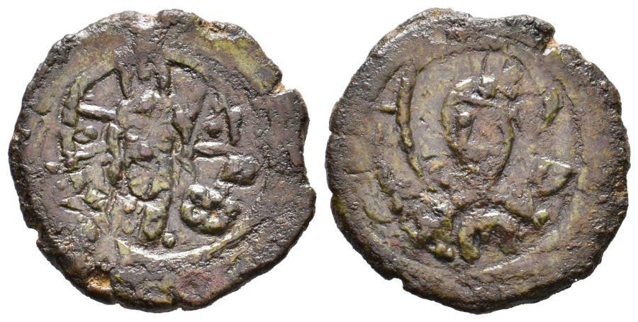 Ancient Coins - CRUSADERS, Edessa. Richard of Salerno. Regent, 1104-1108. Æ Follis, 8.48gr extremely Rare!!!