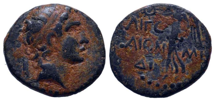 Ancient Coins - CILICIA, Aigeai Alexander the Great . Circa 1st Century BC. Æ 18mm (3.35 gm).