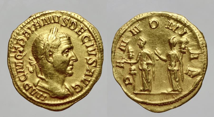 Ancient Coins - TRAJAN DECIUS 243-251 D.C. -AU/ AUREUS