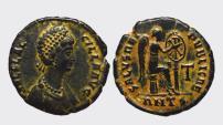 Ancient Coins - AELIA FLACCILLA 383-388 d.C. -AE/ 23 MM    RARE !