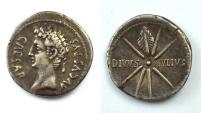 AUGUSTUS 27 a.C. - 14 d.C. -AG/ DENARIUS    RARE !