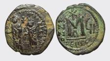 Ancient Coins - HERACLIUS 610-641 d.C. -AE/ FOLLIS   VERY RARE !