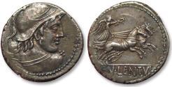 Ancient Coins - AR denarius Cn. Cornelius Lentulus Clodianus, Rome 88 B.C. - exceptionally well struck for the type