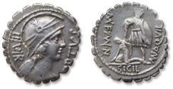 Ancient Coins - AR Denarius, Mn. Aquilius Mn.f. Mn.n. Rome 71 B.C.