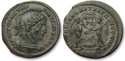 Ancient Coins - AE nummus/follis Constantine I the Great, Trier 318-319 A.D. -- scarcer type, beautiful condition --