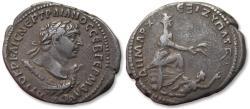 Ancient Coins - AR 28mm Tetradrachm, Trajan / Trajanus - Antioch mint circa 110-111 A.D. - great condition -