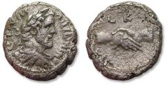 Ancient Coins - 23mm BI billon tetradrachm emperor Antoninus Pius. Egypt, Alexandria mint dated RY 20 = 156-157 A.D.