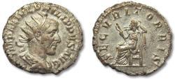 Ancient Coins - AR antoninianus Philip I 'the Arab', Rome mint 244-247 A.D. -- Securitas seated left