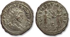 Ancient Coins - AE silvered antoninianus Probus, Antioch 276-282 A.D. -- CLEMENTIA TEMP --