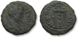 Ancient Coins - AE 17 (assarion) Septimius Severus, Moesia Inferior - Nikopolis ad Istrum 193-211 A.D. - tripod -