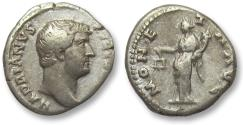 Ancient Coins - AR denarius Hadrian / Hadrianus, Rome 134-138 A.D. -- Moneta standing left --