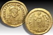 AV gold solidus Anastasius, Constantinople mint 492-507 A.D. - officina I -