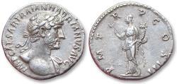 Ancient Coins - AR denarius Hadrian / Hadrianus, Rome mint 119 A.D. - Felicitas standing left -