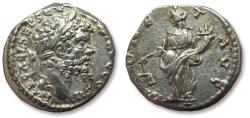 Ancient Coins - AR denarius Septimius Severus, EMESA mint AD 194-195 - scarce coin - MONET AVG