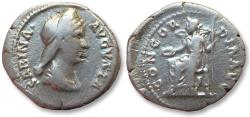 Ancient Coins - AR denarius, Vibia Sabina (struck under her husband Hadrianus), Rome mint 128-136 A.D. - CONCORDIA AVG -