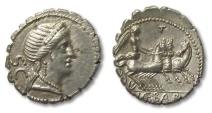 Ancient Coins - AR denarius C. Naevius Balbus, Rome 79 B.C.