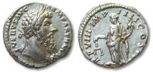 Ancient Coins - AR denarius Lucius Verus, Rome 167 A.D. --AEQUITAS standing left--