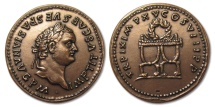 World Coins - France 5th Republic: large copper medal Roman emperor TITUS