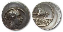 AR denarius L. Marcius Philippus, Rome 56 B.C.